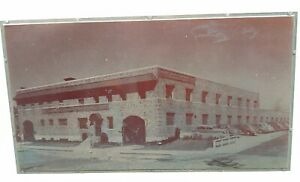 Vintage Letter Press 1930 s Building With Old Car s Print Printers Block Rare