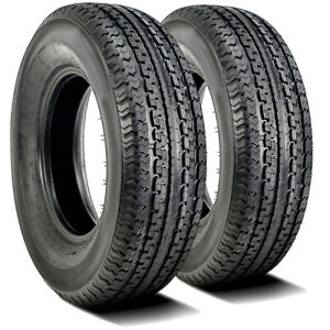 2 New Durun Stc1 St 205 75r15 Load D 8 Ply Trailer Tires