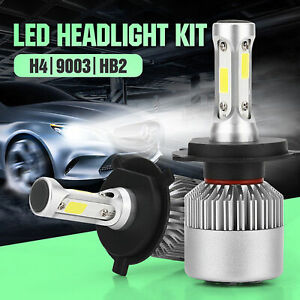 1pc H4 9003 8000lm 6000k Car Cob Led Conversion Headlight Bulb Hi Lo Beam White