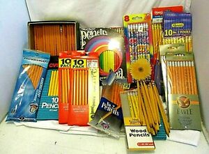 Lot Of Vintage Modern Wooden Pencils Approx 250 Floral Advertising Panorama