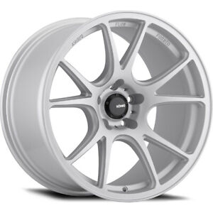 19x8 5 Konig 100s Freeform Silver Wheels Rims 45 5x114 3 Qty 4