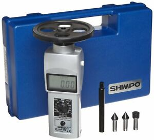 Shimpo Dt 105a s12 Digital Contact Tachometer With Lcd Display