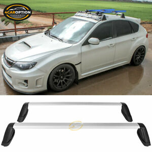 Fits 08 11 Subaru Impreza 08 14 Wrx Sti Cross Bar Luggage Carrier Roof Rack Rail