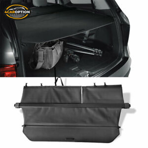 Fits 16 19 Honda Pilot Factory Style Retractable Rear Trunk Cargo Cover Black Pu