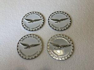 Lowrider hydraulics wire Wheel Knock Off zenith White Chrome Chip 4pcs