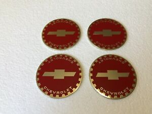 Lowrider hydraulics wire Wheel Knock Off zenith Red Gold Chevrolet Chip 4pcs
