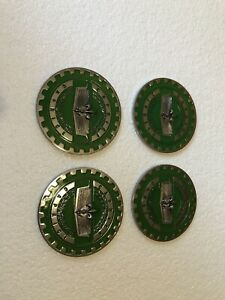 Lowrider hydraulics wire Wheel Knock Off Green And Chrome Caprice Chip 4pcs