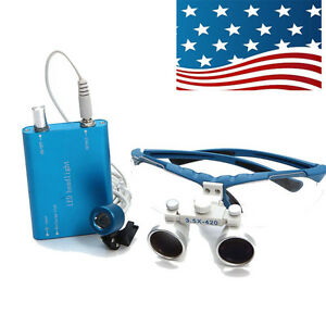 Usps Shipping Led Head Light Lamp Dental Surgical Binocular Loupes Warranty