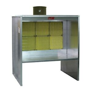 Paasche 6 Shelf Type Spray Booth With Fan Light And Motor