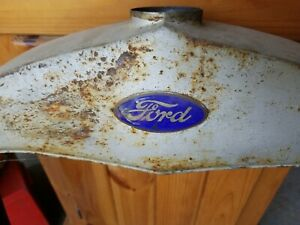 Original Late 1920 S Ford Model A Radiator Shell No Cracks Vintage Rust
