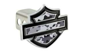 Hdhccam Gy12 Harley Davidson Gray Camouflage Vinyl Inlays Hitch Cover