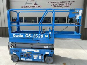 2013 Genie 1530 Electric Scissor Lift Up 15 Feet 1930 Jlg Can Deliver Iowa