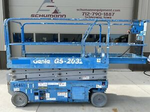 2008 Genie 2032 Electric Scissor Lift Up 20 Feet 1930 Jlg Can Deliver Iowa