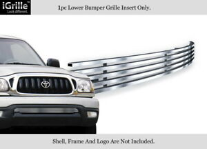 Fits 2001 2004 Toyota Tacoma Bumper Stainless Steel Billet Grille Insert