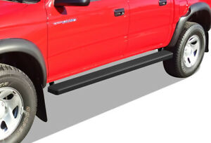 Iboard Running Boards 5 Matte Black Fit 01 04 Toyota Tacoma Double Cab crew Cab