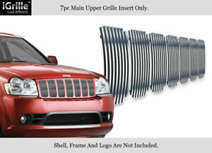 Fits 2006 2008 Jeep Grand Cherokee Stainless Steel Billet Grille Insert