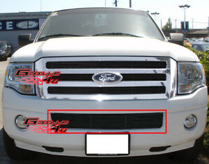 Fits 2007 2014 Ford Expedition Bumper Black Billet Grille Grill Insert