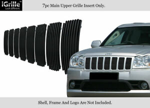 Fits 2006 2008 Jeep Grand Cherokee Stainless Steel Black Billet Grille