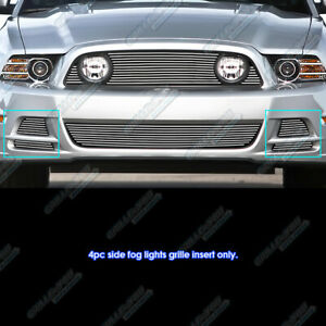 Fits 2013 2014 Ford Mustang Gt Fog Light Cover Billet Grille Inserts