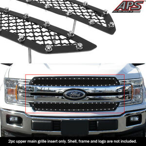 Fits 2018 2020 Ford F 150 Xl Xlt lariat For Bar Style Model Black Mesh Grille