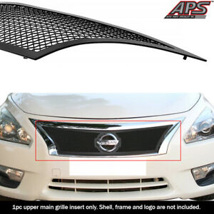 Fits 2013 2015 Nissan Altima Upper Stainless Steel Black Mesh Grille Insert