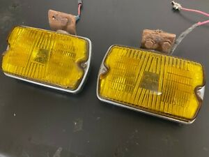 Pair Of Yellow Cibie Fog Lamps