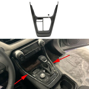 Accessories For Toyota Rav4 Carbon Fiber Gear Position Shift Panel Frame Cover