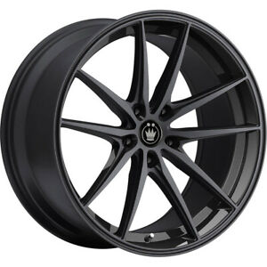 4 New 19x8 5 Konig 37b Oversteer Black Wheels Rims 35 5x120