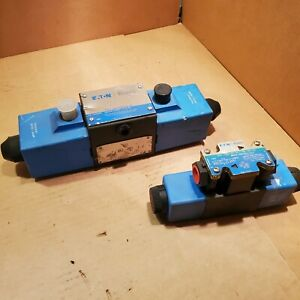 Lot Of 2 Eaton Vickers Hydraulic Solenoid Valves Dg4s4 0131c u h 60 See Descript