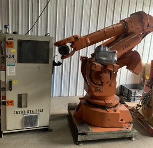 Abb Irb6400 Robot W S4 Controller Pendant working When Pulled Read Details