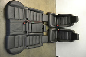Mk6 Vw Gti Black Leather Seats Front Rear Heated Driver Edition Oem 2010 2014