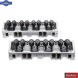 Edelbrock E Street Cylinder Head 70cc Pair For Small Block Chevy