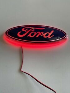 New For Ford 17 6cmx6 9cm Led Emblem Red White Or Blue Free Us Shipping