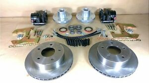1940 1954 Pontiac Complete Front Disc Brake Conversion Kit 11 Rotors 15 Wheel