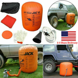 4 Ton Exhaust Pump Dual Inflatable Air Jack Bag Car Vehicle Truck Rescue Tool
