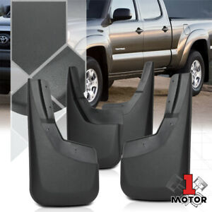 Set Of 4 Matte Black Abs Wheel Mud Flaps Splash Guards For 05 15 Toyota Tacoma