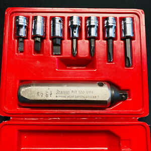 Snap On 8 Piece 3 8in Hand Impact Driver Set Sockets Case See Description