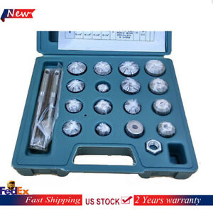 Valve Seat Reamer Motorcycle Repair Displacement Carbide Tipped Cutters Tool Set