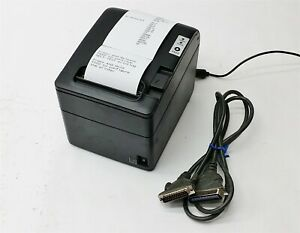 Partner Rp 600 Rp600 Pos Serial Auto cut Direct Thermal Receipt Printer Black