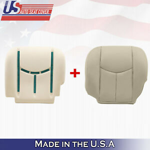 2003 2004 2005 2006 Chevy Tahoe Driver Lower Leather Seat Cover Foam Shale Tan