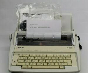 Brother Ml 100 Standard Electric Typewriter W extra Font Wheel Tested