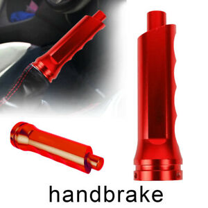 1pcs Trd Red Aluminum Car Handle Hand Brake Sleeve Universal Cover For Toyota