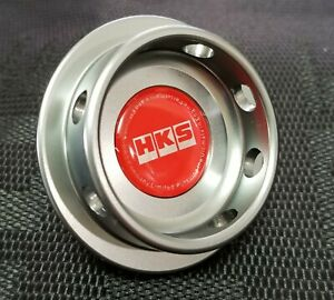 Hks Engine Oil Fuel Filler Cap Billet Gunmetal For Subaru Impreza Wrx Sti