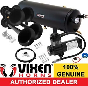 Train Horn Kit For Truck Car Pickup Loud System 3g Air Tank 200psi 4 Trumpets