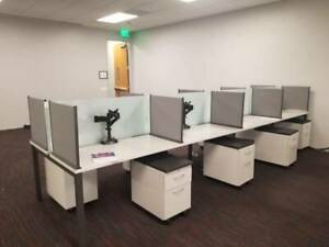 Nice Modern Hon 4 x2 Office Cubicles Workstations frosted Glass