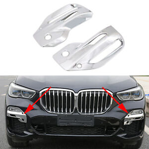 Matte Chrome Parts For Bmw X5 G05 2019 2020 Car Front Fog Light Lamp Cover Trim