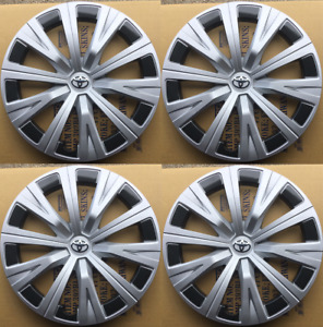 4x 16 Hub Caps Fit 2007 2020 Toyota Camry Wheel Covers Black Silver Set Of 4