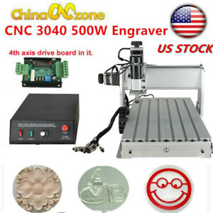 3040z dq Cnc Router 3axis Acrylic Engraving Diy Milling Cutting Machine Kit 500w