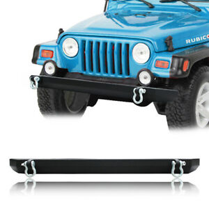 Vijay Textured Full Width Front Bumper Fit 87 06 Jeep Wrangler Tj With D ring