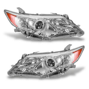 Headlights Headlamps Replacement Left right For 2012 2014 Toyota Camry Projector